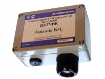 Датчик аммиака с выходом 4-20мА, двухпроводная схема подключения